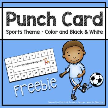 Reward Punch Card - Sports Theme