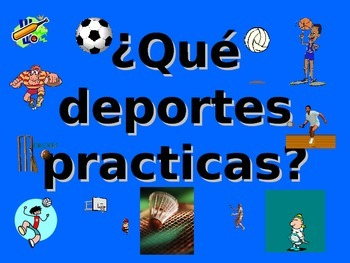 Spanish Teaching Resources. Sports with Jugar