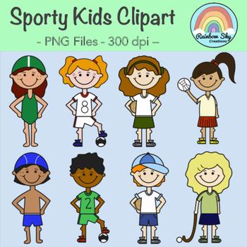 Sporty Kids Clipart