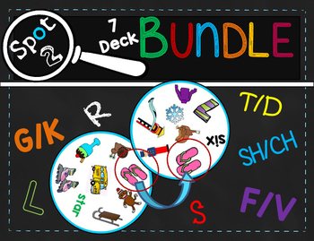 Spot 2! Card Game for Articulation Groups, 7-Deck BUNDLE