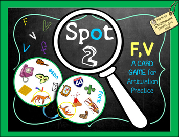 Spot 2! Fun Card Game for Articulation Groups: F/V