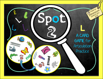 Spot 2!  Fun Card Game for Articulation Groups:  L