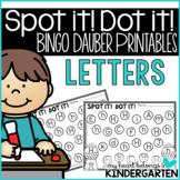 Alphabet Letters:Bingo Dauber Printables for Letter Recognition