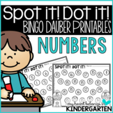 Numbers to 20:Bingo Dauber Printables for Number Recognition