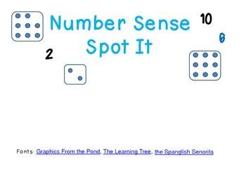 Spot It Number Sense