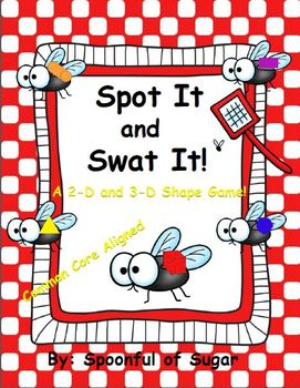 Spot It and Swat It! (2-D and 3-D Shapes Game)