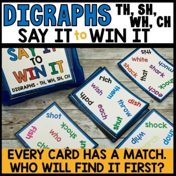 Spot That Word Game (th, wh, sh, ch practice)