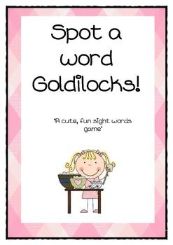 Spot a word goldilocks