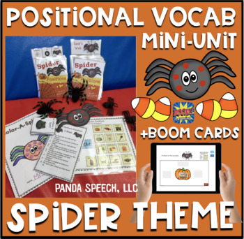 Spot the Spider Positional Vocabulary Unit!  Speech Therap