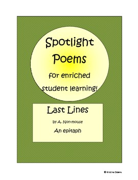 Spotlight Poems for Enriched Student Learning - Last Lines
