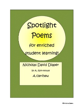 Spotlight Poems for Enriched Student Learning - Nicholas -