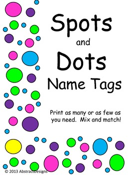 Spots and Dots Name Tags