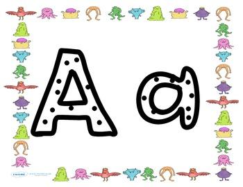 Spotted Monster Alphabet
