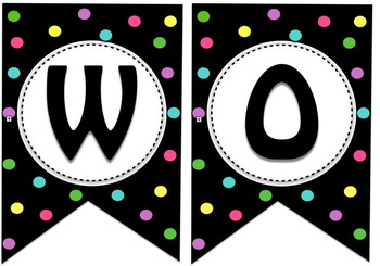"""Spotting Good Work"" Polka Dot Banner"