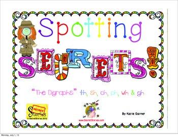 """Spotting Phonics """"Secrets!"""" The SECRET STORIES® Digraphs:"""