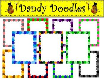 Spotty Dotty Frames Clip Art by Dandy Doodles