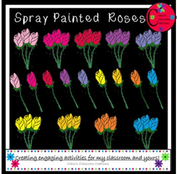 Spray Painted Roses {FREE}