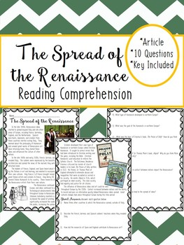 Spread of the Renaissance article and questions