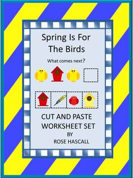 Spring Cut and Paste Birds Morning Work, Early finishers, Centers