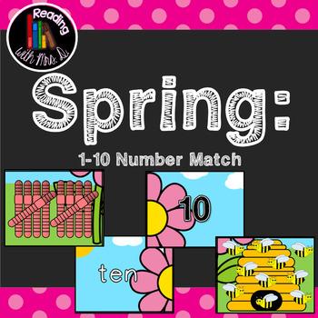 Spring 1-10 Number Match Game
