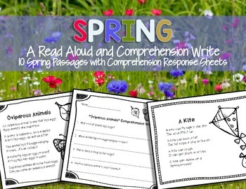 Spring...Read and Respond {Comprehension Writing}