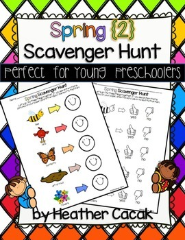 Spring 2 Scavenger Hunt for Young Preschoolers