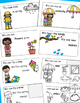 Spring Words, Emergent Reader, Cut and Paste Activities Reader