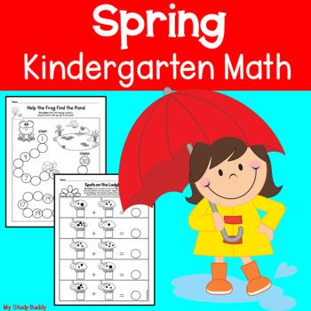 Spring Math Printables - Kindergarten