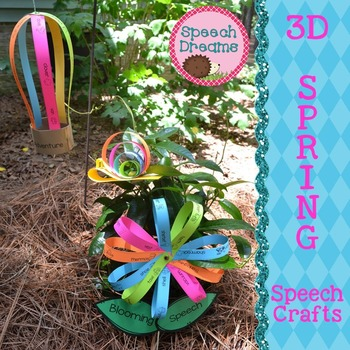 Spring 3D Speech Therapy Crafts {articulation language cra