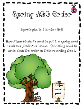 Spring ABC Order Workstation Game