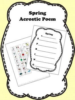 Spring Acrostic Poem Activity