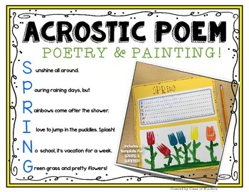 Spring Acrostic Template Freebie {Painting and Poetry!} Ki
