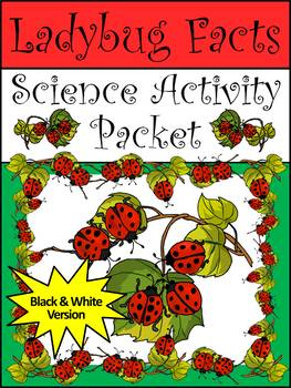 Spring Activities: Ladybug Facts Science Activity Packet