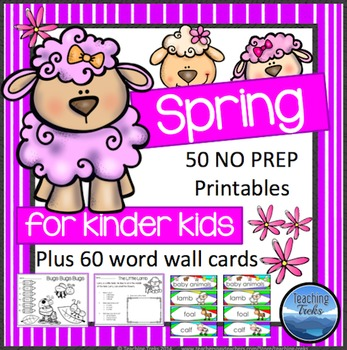 Spring Activities: Spring Math and Language Activities for