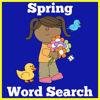 Spring Activity | Spring Word Search | Spring Unit | Seaso