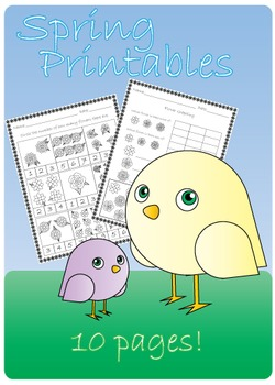 Spring Activity Pack (Counting, identifying, graphing, pre