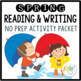 No Prep Spring Literacy Activity Packet