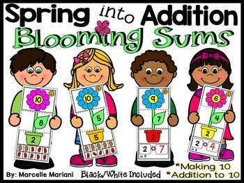 Spring Addition- I can make 10 & Addition to 10- Addition