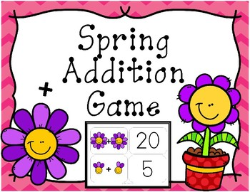 Spring Addition Matching Card Game