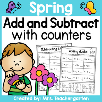 Spring Addition and Subtraction with counters