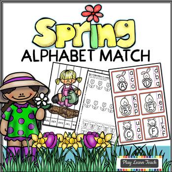 Spring Alphabet Match and Clip