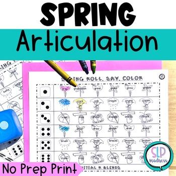 Spring NO PREP Articulation Roll Say Color - Sound Practic