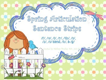 Spring Articulation and Language Sentence Strips