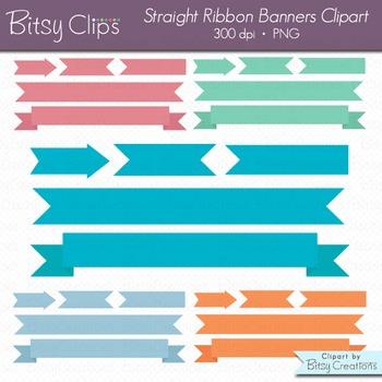 Spring Banners Clipart Digital Art Set INSTANT DOWNLOAD Ri