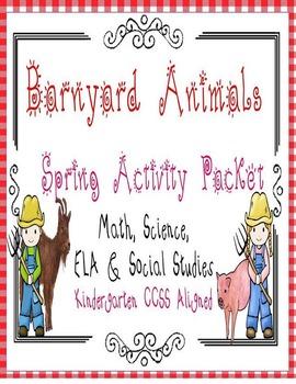 Spring Barnyard Animals Activity Packet CCSS Kindergarten SPED