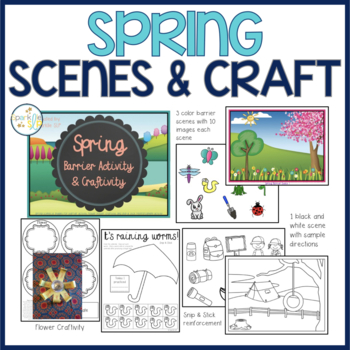 Spring Barrier Activity & Craftivity for Speech and Langua