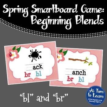 """Spring Beginning Blends: """"bl"""" and """"br"""" Game for Smartboard"""