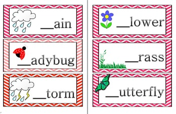 Spring Words-First Sound-Game Cards