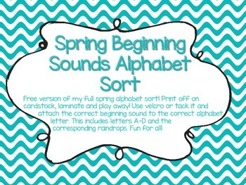 Spring Beginning Sound Sort