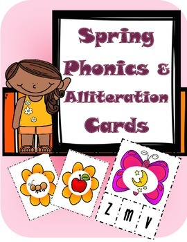 Spring Phonics & Alliteration Cards